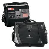Slope Black/Grey Compu Messenger Bag-Primary Logo Centered