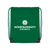 Kelly Green Drawstring Backpack-Primary Logo Centered