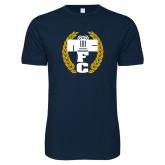Next Level SoftStyle Navy T Shirt-NICFC