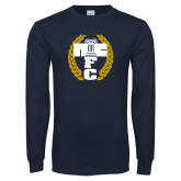 Navy Long Sleeve T Shirt-NICFC