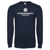 Navy Long Sleeve T Shirt-Primary Logo Centered