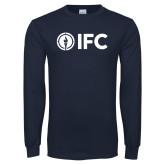 Navy Long Sleeve T Shirt-IFC