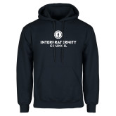 Navy Fleece Hoodie-Primary Logo Centered
