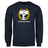 Navy Fleece Crew-Personalized Fraternity Name Script