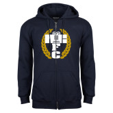 Navy Fleece Full Zip Hoodie-NICFC