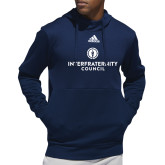 Adidas Navy Team Issue Hoodie-Primary Logo Centered