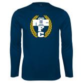 Performance Navy Longsleeve Shirt-NICFC