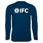 Performance Navy Longsleeve Shirt-IFC