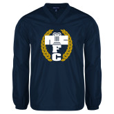 V Neck Navy Raglan Windshirt-NICFC