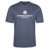 Performance Navy Heather Contender Tee-Primary Logo Centered