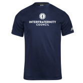 Russell Core Performance Navy Tee-Primary Logo Centered