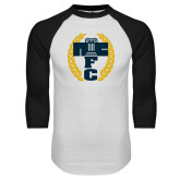 White/Black Raglan Baseball T Shirt-NICFC
