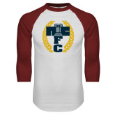 White/Cardinal Raglan Baseball T Shirt-NICFC