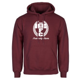 Maroon Fleece Hoodie-Personalized Fraternity Name Script
