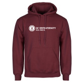 Maroon Fleece Hoodie-Primary Logo Left