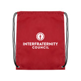 Cardinal Drawstring Backpack-Primary Logo Centered