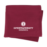 Maroon Sweatshirt Blanket-Primary Logo Centered