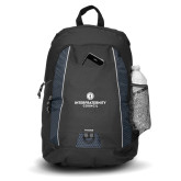 Impulse Black Backpack-Primary Logo Centered