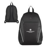 Atlas Black Computer Backpack-Primary Logo Centered