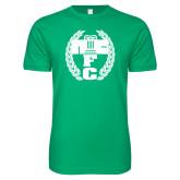 Next Level SoftStyle Kelly Green T Shirt-NICFC