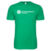 Next Level SoftStyle Kelly Green T Shirt-Primary Logo Left