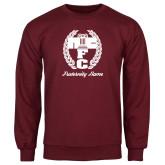 Maroon Fleece Crew-Personalized Fraternity Name Script