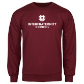 Maroon Fleece Crew-Primary Logo Centered