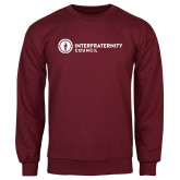 Maroon Fleece Crew-Primary Logo Left