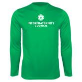 Performance Kelly Green Longsleeve Shirt-Primary Logo Centered