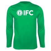 Performance Kelly Green Longsleeve Shirt-IFC