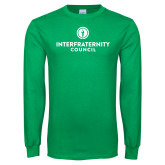 Kelly Green Long Sleeve T Shirt-Primary Logo Centered