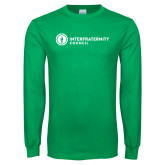 Kelly Green Long Sleeve T Shirt-Primary Logo Left