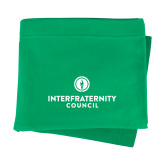 Kelly Green Sweatshirt Blanket-Primary Logo Centered