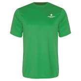Performance Kelly Green Tee-Primary Logo Centered