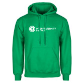 Kelly Green Fleece Hoodie-Primary Logo Left