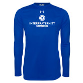 Under Armour Royal Long Sleeve Tech Tee-Primary Logo Centered