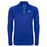 Under Armour Royal Tech 1/4 Zip Performance Shirt-Primary Logo Centered