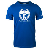 Adidas Royal Logo T Shirt-Personalized Fraternity Name Script