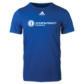 Adidas Royal Logo T Shirt-Primary Logo Left