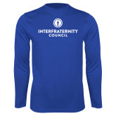Performance Royal Longsleeve Shirt-Primary Logo Centered