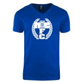 Next Level V Neck Royal T Shirt-NICFC