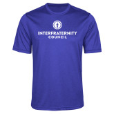 Performance Royal Heather Contender Tee-Primary Logo Centered