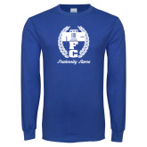 Royal Long Sleeve T Shirt-Personalized Fraternity Name Script
