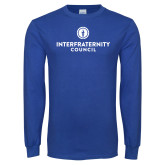 Royal Long Sleeve T Shirt-Primary Logo Centered