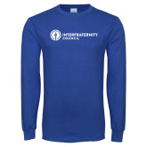 Royal Long Sleeve T Shirt-Primary Logo Left