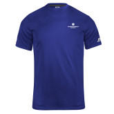 Russell Core Performance Royal Tee-Primary Logo Centered