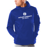 Under Armour Royal Armour Fleece Hoodie-Primary Logo Centered