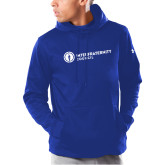 Under Armour Royal Armour Fleece Hoodie-Primary Logo Left