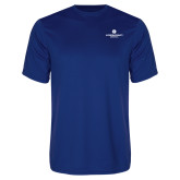 Performance Royal Tee-Primary Logo Centered