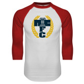 White/Red Raglan Baseball T Shirt-NICFC
